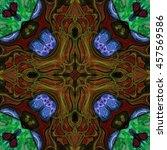 kaleidoscopic wallpaper tiles | Shutterstock . vector #457569586
