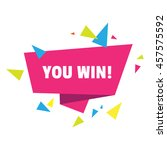 you win  celebration design.... | Shutterstock .eps vector #457575592