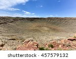 meteor crater  the result of a... | Shutterstock . vector #457579132