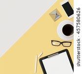 minimal work space concept  ... | Shutterstock . vector #457580626