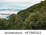 sea of fog at the top of the... | Shutterstock . vector #457585312