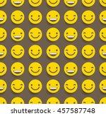smiley face seamless pattern  ... | Shutterstock .eps vector #457587748