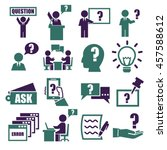 ask  question icon set   Shutterstock .eps vector #457588612