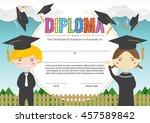 preschool elementary school... | Shutterstock .eps vector #457589842