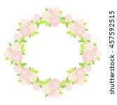 round frame of roses | Shutterstock .eps vector #457592515