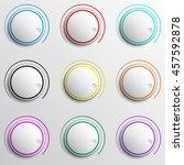 buttons set. vector illustration | Shutterstock .eps vector #457592878