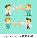 vector set of cartoon doctor... | Shutterstock .eps vector #457593682