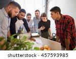 creative office workers working ... | Shutterstock . vector #457593985