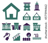 buying home icon set | Shutterstock .eps vector #457594462