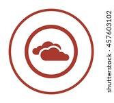 cloud  icon. flat design.   | Shutterstock .eps vector #457603102