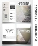 set of business templates for... | Shutterstock .eps vector #457608232