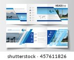 business templates for tri fold ... | Shutterstock .eps vector #457611826