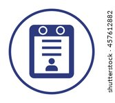 calendar icon. flat design. | Shutterstock .eps vector #457612882