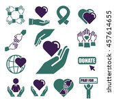 donate  charity icon set | Shutterstock .eps vector #457614655