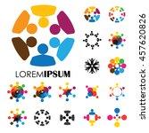 vector logo icon designs of... | Shutterstock .eps vector #457620826