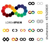 collection of infinity symbols  ... | Shutterstock .eps vector #457620835