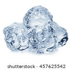 ice cubes close up isolated on... | Shutterstock . vector #457625542