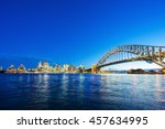 sydney cbd with view of harbour ... | Shutterstock . vector #457634995