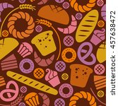 food bakery seamless pattern... | Shutterstock . vector #457638472