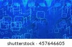 blue binary abstract backdrop | Shutterstock . vector #457646605