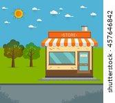 store facade. vector... | Shutterstock .eps vector #457646842