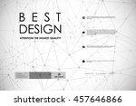 set of brochure  poster design... | Shutterstock .eps vector #457646866