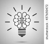 lamp brain icon   Shutterstock .eps vector #457650472