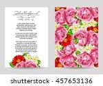 vintage delicate invitation... | Shutterstock .eps vector #457653136