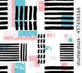 striped geometric seamless... | Shutterstock .eps vector #457656166