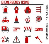 emergency icons  mono vector... | Shutterstock .eps vector #457656508