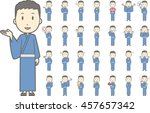 diverse set of man wearing a... | Shutterstock .eps vector #457657342