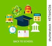 back to school concept. flat... | Shutterstock .eps vector #457664236