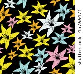 seamless flower pattern | Shutterstock .eps vector #45766471