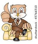 a brown owl boss thumb up it... | Shutterstock . vector #45766510
