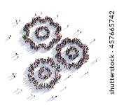 cog gear people 3d rendering   Shutterstock . vector #457665742