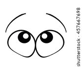 eyes are looking up to glare.... | Shutterstock . vector #457667698