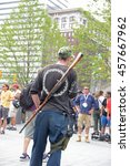 Small photo of CLEVELAND - OHIO - JULY 21 2016: Thousands of delegates, activists, spectators & law enforcement from all over the US descended to Cleveland for the Republican National Convention. Open weapons carry