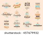 happy friendship day vector... | Shutterstock .eps vector #457679932