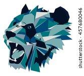 illustration of geometric roar... | Shutterstock . vector #457680046