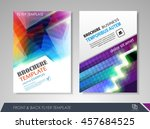 front and back page brochure... | Shutterstock .eps vector #457684525