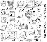 school education doodles... | Shutterstock .eps vector #457686955