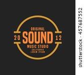 music studio logo and badge... | Shutterstock .eps vector #457687552