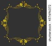 vintage golden antique vector... | Shutterstock .eps vector #457696372