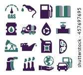 gasoline  gas  oil icon set | Shutterstock .eps vector #457697695