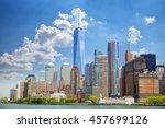 Stock photo lower manhattan urban skyscrapers in new york city 457699126