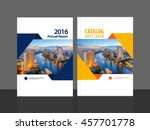 cover design for annual report... | Shutterstock .eps vector #457701778