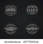 four vector emblems for barber... | Shutterstock .eps vector #457704316