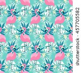 beautiful seamless pattern with ... | Shutterstock .eps vector #457705582
