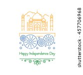 indian independence day with... | Shutterstock .eps vector #457706968
