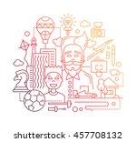illustration of modern line...   Shutterstock . vector #457708132